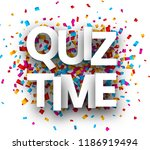 quiz time sign with colorful... | Shutterstock .eps vector #1186919494