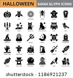 halloween glyph icon set  eps10 ... | Shutterstock .eps vector #1186921237