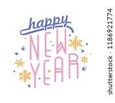 happy new year inscription... | Shutterstock .eps vector #1186921774
