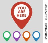 marker location icon with you...   Shutterstock .eps vector #1186926934