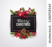 merry christmas background.... | Shutterstock .eps vector #1186928164