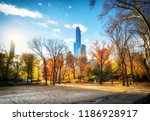 central park in new york city... | Shutterstock . vector #1186928917