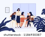 female characters sitting on... | Shutterstock .eps vector #1186930387