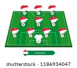 hungary football team lineup on ... | Shutterstock .eps vector #1186934047