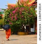 vientiane laos 04 06 13  a monk ... | Shutterstock . vector #1186941814