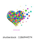 colored heart onthe white... | Shutterstock .eps vector #1186944574