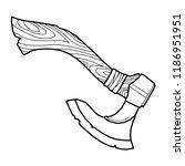 vector image of axe. | Shutterstock .eps vector #1186951951