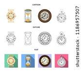 vector illustration of clock... | Shutterstock .eps vector #1186957507