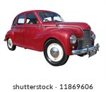1953 jowett javelin isolated... | Shutterstock . vector #11869606