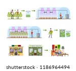 weed production process. from... | Shutterstock .eps vector #1186964494