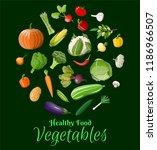 big vegetable icon set. onion ... | Shutterstock .eps vector #1186966507