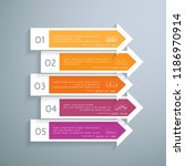 arrows infographic in 5 steps... | Shutterstock .eps vector #1186970914