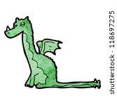 cartoon dragon | Shutterstock .eps vector #118697275