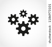 gear icon isolated on white... | Shutterstock .eps vector #1186973101