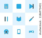multimedia icons colored set...   Shutterstock .eps vector #1186973431