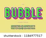 vector bubble font trendy... | Shutterstock .eps vector #1186977517