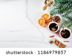traditional autumn winter hot... | Shutterstock . vector #1186979857