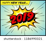 happy new year 2019 in a... | Shutterstock .eps vector #1186990321