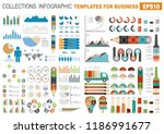 collection of infographic...   Shutterstock .eps vector #1186991677