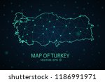 map turkey. wire frame 3d mesh... | Shutterstock .eps vector #1186991971