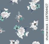 seamless floral pattern.... | Shutterstock .eps vector #1187004427