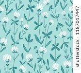 white clover flowers.  vector... | Shutterstock .eps vector #1187017447