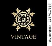 flourishes calligraphic art... | Shutterstock .eps vector #1187017594