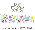 winter clothes border for your... | Shutterstock .eps vector #1187018161
