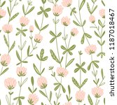 white clover flowers.  vector... | Shutterstock .eps vector #1187018467