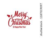 merry christmas vintage... | Shutterstock .eps vector #1187019097