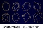 vector set of luxury golden... | Shutterstock .eps vector #1187024704
