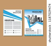 simple cover  layout  brochure  ... | Shutterstock .eps vector #1187029474