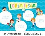 template. pupils. school.... | Shutterstock .eps vector #1187031571