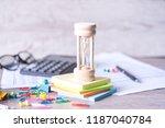 classic wooden hourglass or... | Shutterstock . vector #1187040784