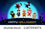 halloween ghosts charector. the ... | Shutterstock .eps vector #1187054074