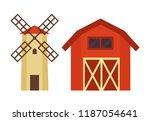barn for grain or hay...   Shutterstock .eps vector #1187054641