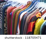 fashion style suits and clothes ... | Shutterstock . vector #118705471