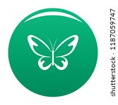 flying moth icon. simple... | Shutterstock .eps vector #1187059747