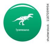 tyrannosaurus icon. simple... | Shutterstock .eps vector #1187059954