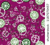 fruit pattern with lemon and... | Shutterstock .eps vector #1187070457