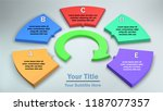 5 options  3d infograpihc with...   Shutterstock .eps vector #1187077357