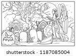 line drawing for coloring... | Shutterstock .eps vector #1187085004
