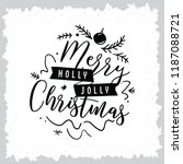 merry christmas. typography.... | Shutterstock .eps vector #1187088721