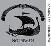 an ancient scandinavian image... | Shutterstock .eps vector #1187089804