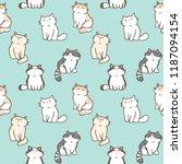 seamless pattern of cute... | Shutterstock .eps vector #1187094154