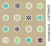 snowflakes icon collection | Shutterstock .eps vector #118709605