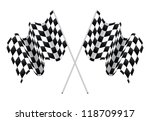 checkered flags isolated on... | Shutterstock . vector #118709917