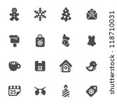 set of christmas icons | Shutterstock .eps vector #118710031
