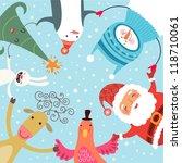 christmas roundelay | Shutterstock .eps vector #118710061