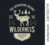 adventure typography. textured... | Shutterstock .eps vector #1187101774